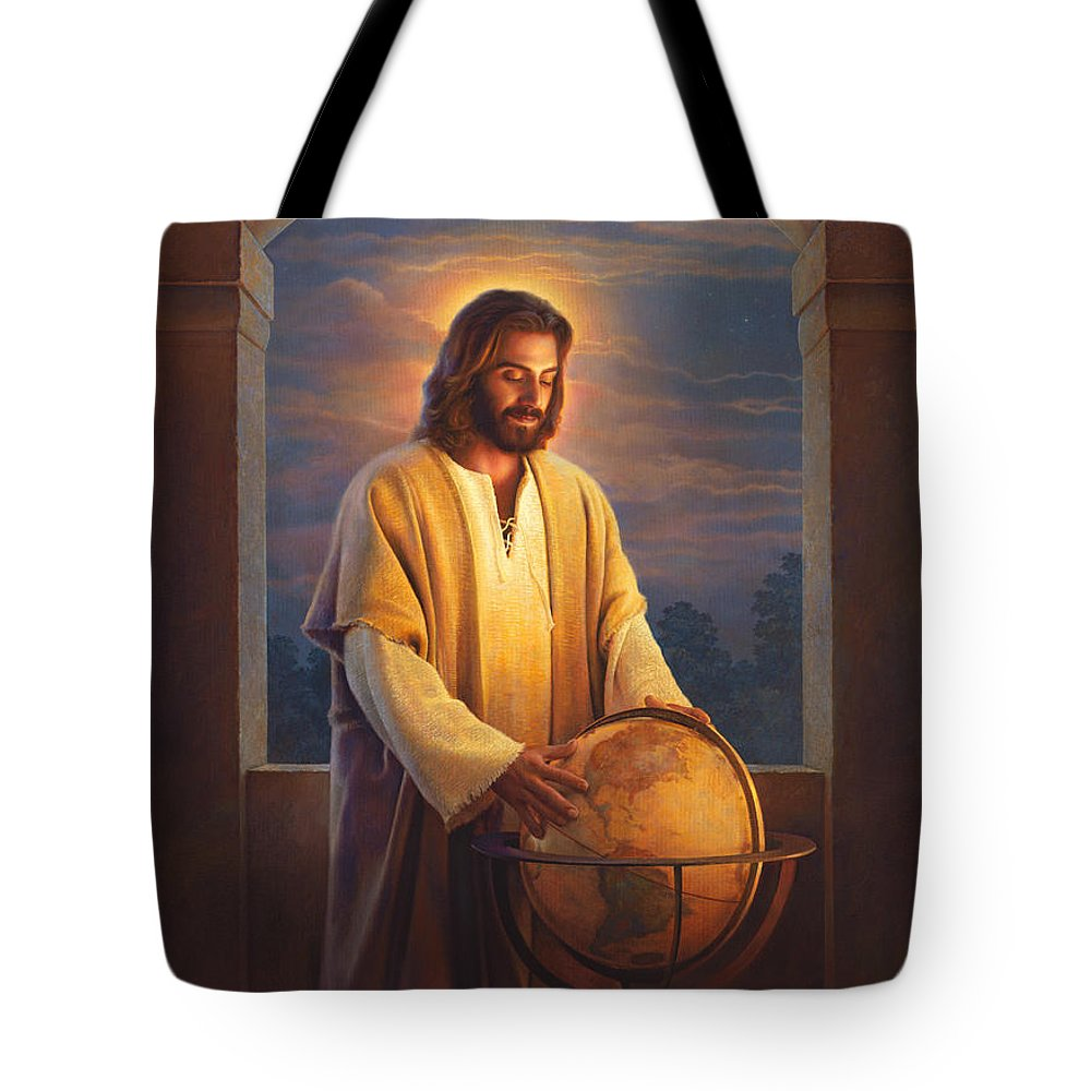 Jesus Tote Bag featuring the painting Peace On Earth by Greg Olsen