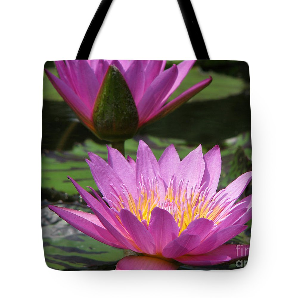 Lillypad Tote Bag featuring the photograph Peaceful by Amanda Barcon