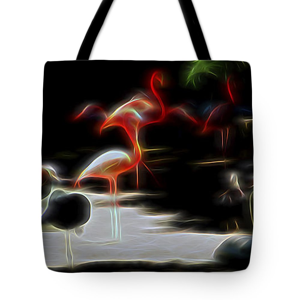 Nature Tote Bag featuring the digital art Peaceful Coexistence by William Horden