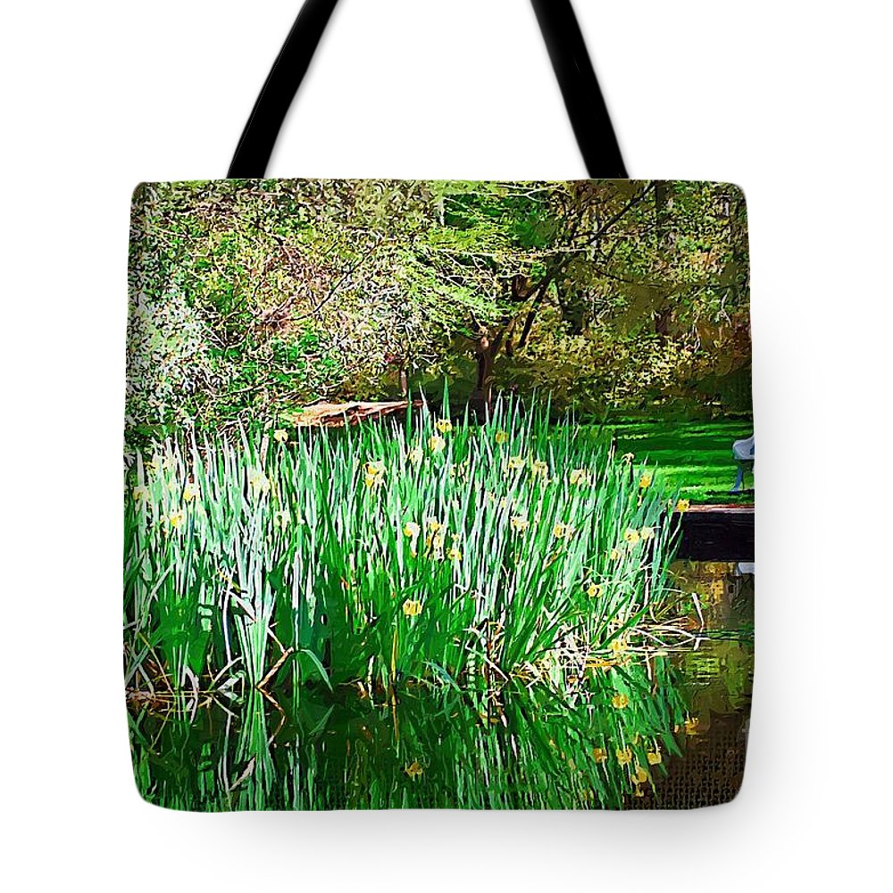 Pond Tote Bag featuring the photograph Peaceful by Donna Bentley