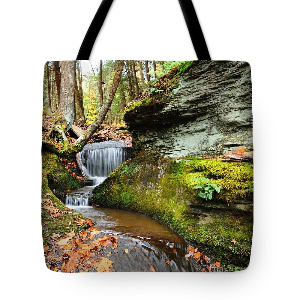 Stream Tote Bag featuring the photograph Peaceful Flow by Scott Hafer