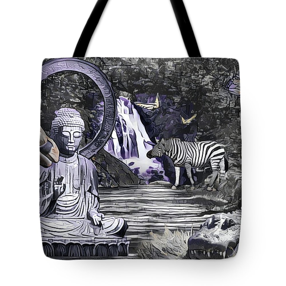 Buddha Tote Bag featuring the photograph Peaceful Garden by Dan Earle