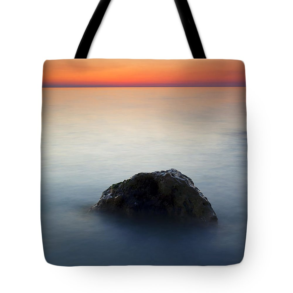Rock Tote Bag featuring the photograph Peaceful Isolation by Mike Dawson