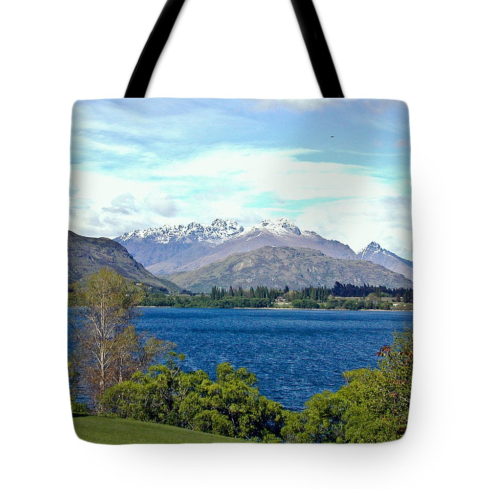 Lake Tote Bag featuring the photograph Peaceful Lake -- New Zealand by Douglas Barnett