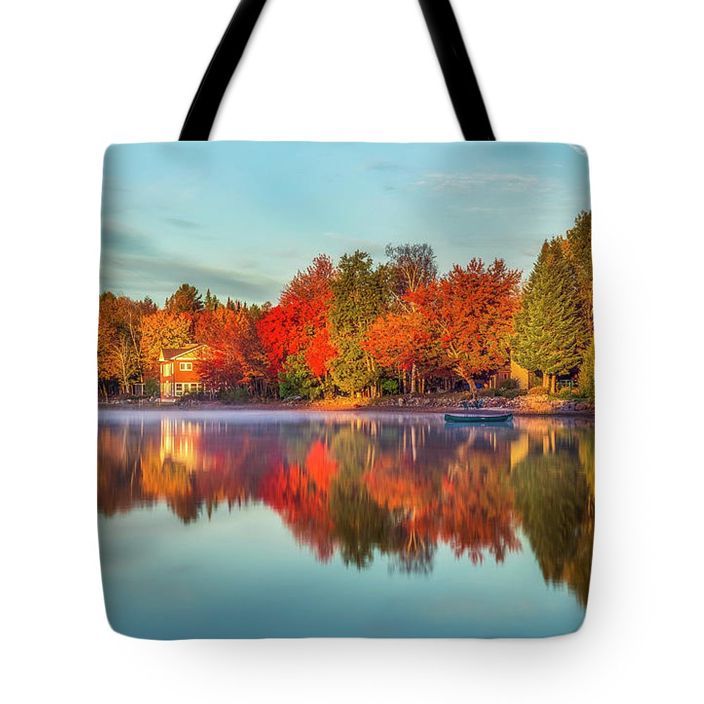 Mark Papke Tote Bag featuring the photograph Peaceful Morning by Mark Papke
