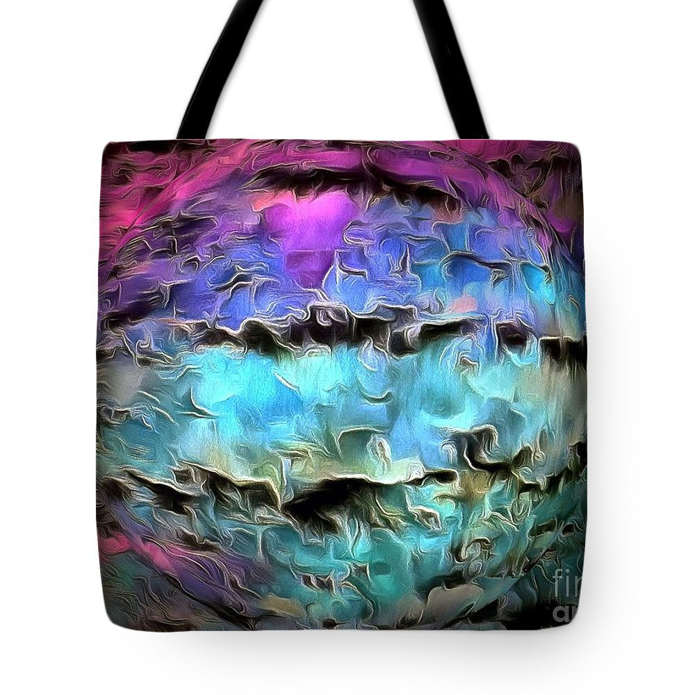 Universe Tote Bag featuring the photograph Peaceful Planet by Krissy Katsimbras