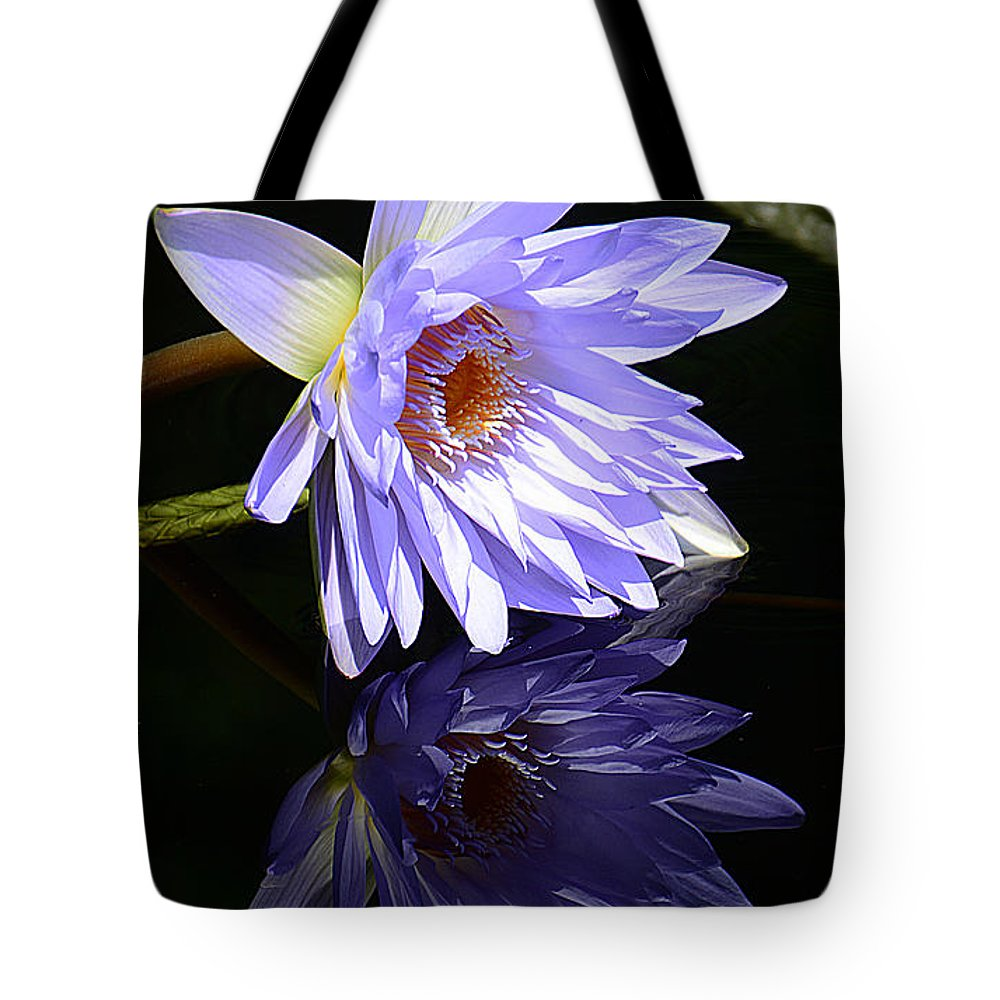 Lily Tote Bag featuring the photograph Peaceful Reflections by Cindy Manero