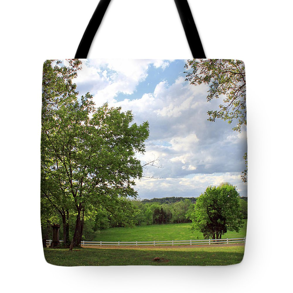 Landscape Tote Bag featuring the photograph Peaceful Setting by Todd Blanchard