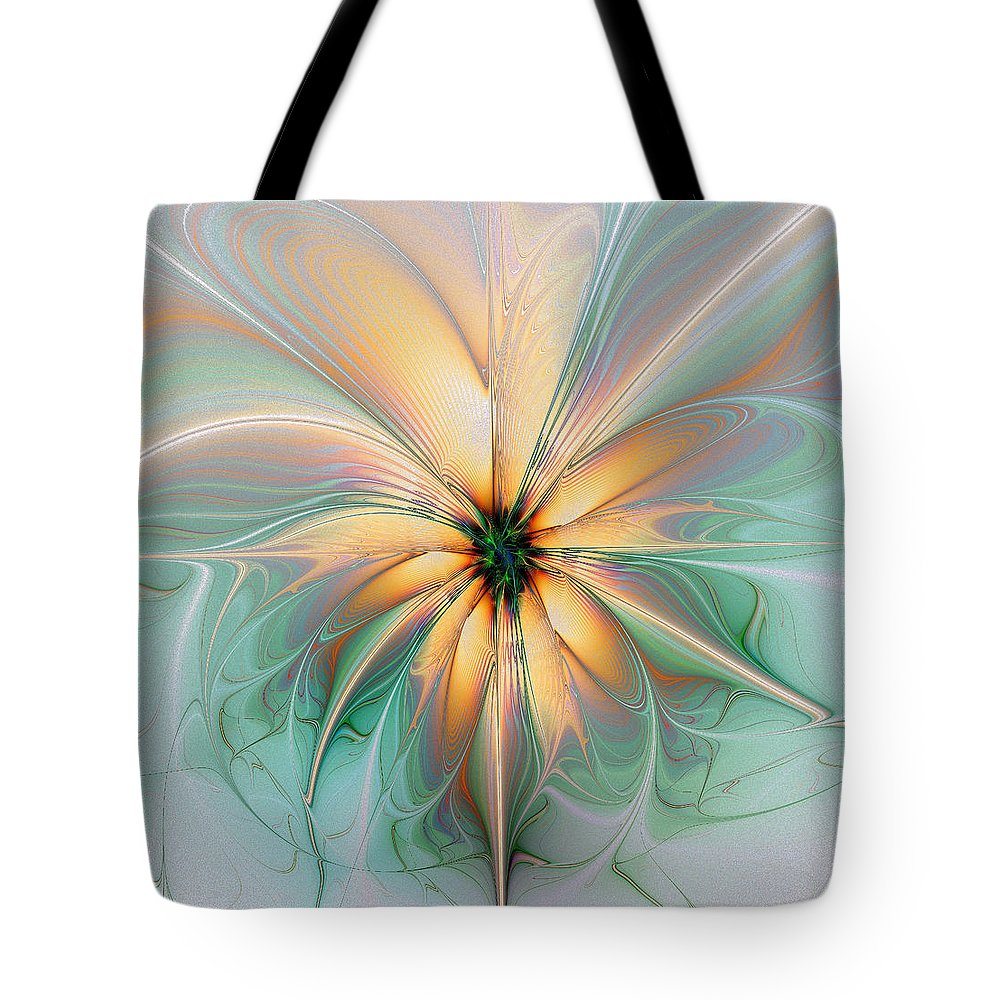 Digital Art Tote Bag featuring the digital art Peach Allure by Amanda Moore