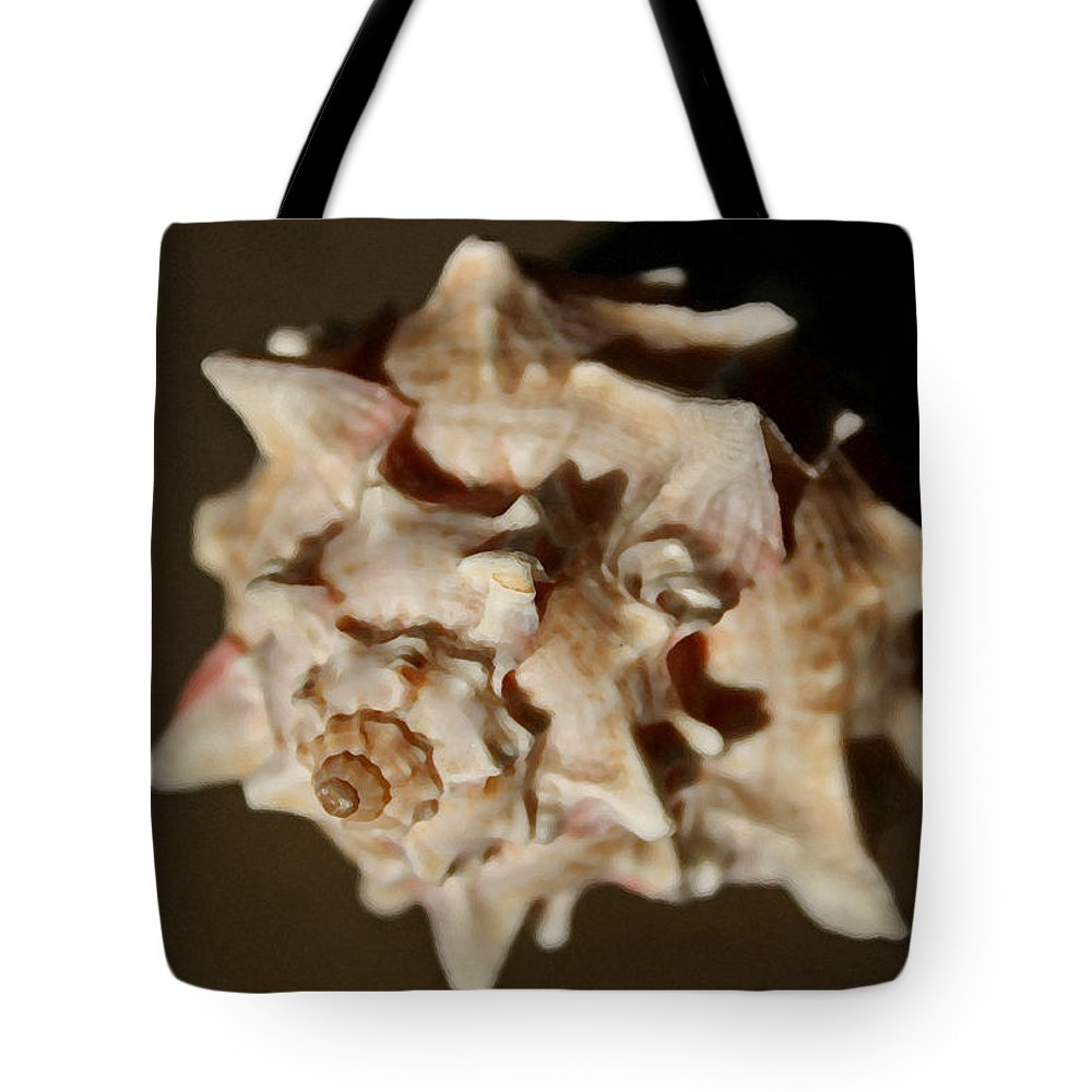 Shells Tote Bag featuring the photograph Peaches And Cream by Mary Haber