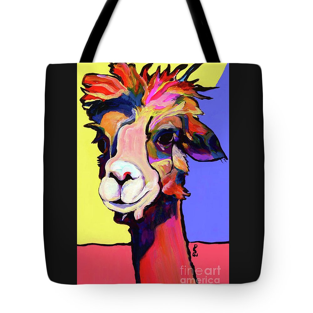 Pat Saunters-white Tote Bag featuring the painting Peaches by Pat Saunders-White