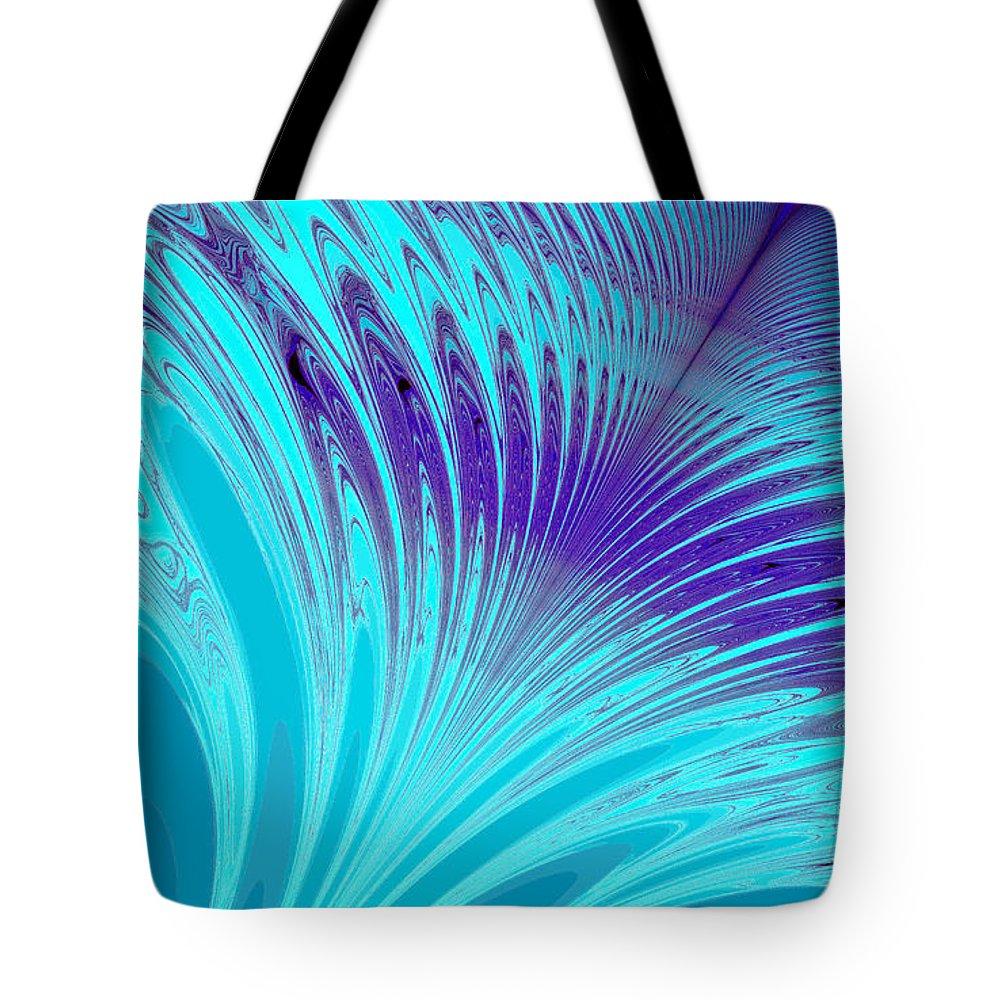 Clay Tote Bag featuring the digital art Peacock by Clayton Bruster