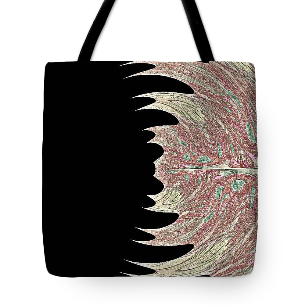 Peacock Pink Teal Green Abstract Tote Bag featuring the digital art Peacock Fade by Rabecca Primeau
