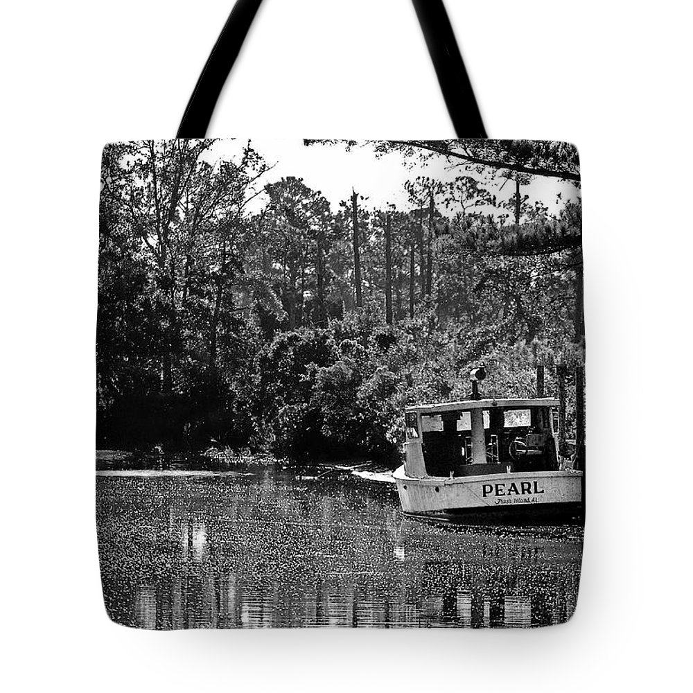 Fairhope Tote Bag featuring the painting Pearl And The Sparkling Waters by Michael Thomas