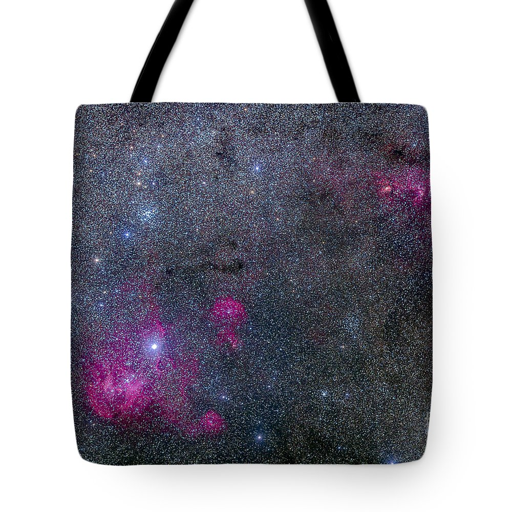 Centaurus Tote Bag featuring the photograph Pearl Cluster And Lambda Centauri by Alan Dyer