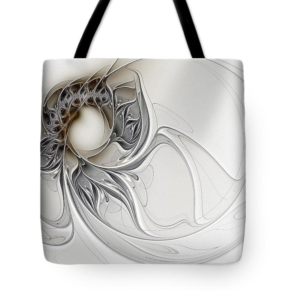 Digital Art Tote Bag featuring the digital art Pearl by Amanda Moore