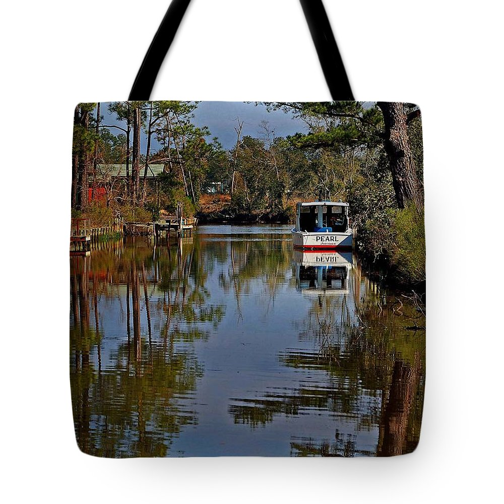 Shrimp Boat Tote Bag featuring the painting Pearl by Michael Thomas