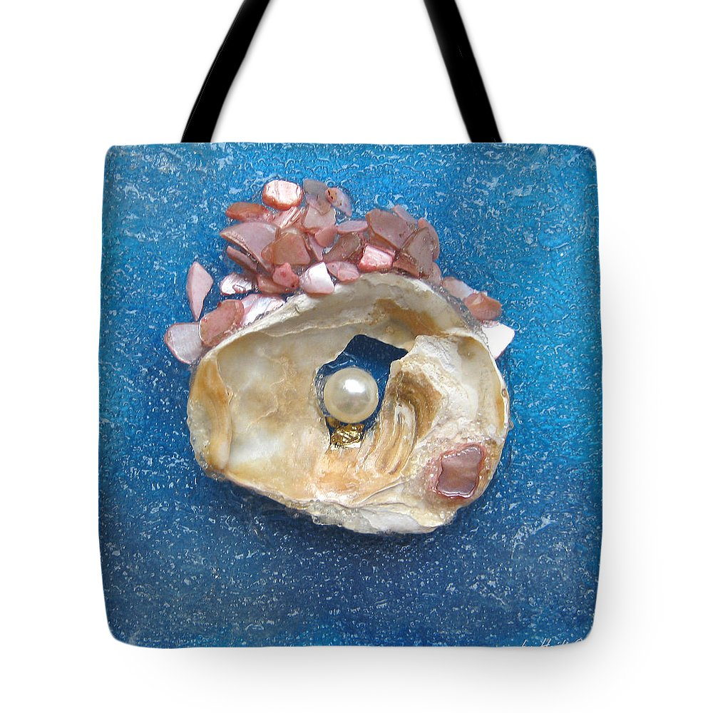 Pearl Of The North Sea Sylt Tote Bag featuring the glass art Pearl Of The North Sea Sylt No 0 by Heidi Sieber
