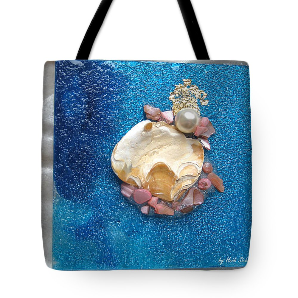 Pearl Of The North Sea Sylt Tote Bag featuring the glass art Pearl Of The North Sea Sylt No 1 by Heidi Sieber