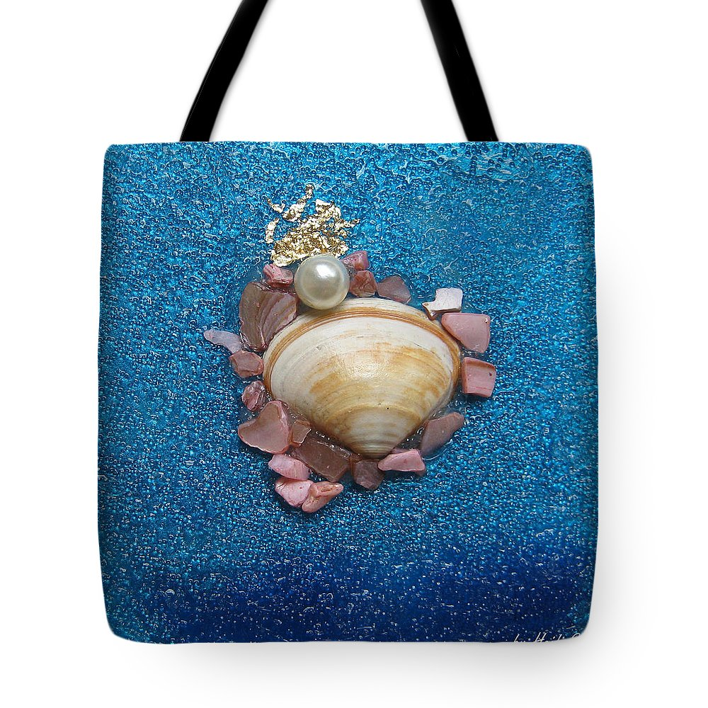 Pearl Of The North Sea Sylt Tote Bag featuring the glass art Pearl Of The North Sea Sylt No 2 by Heidi Sieber