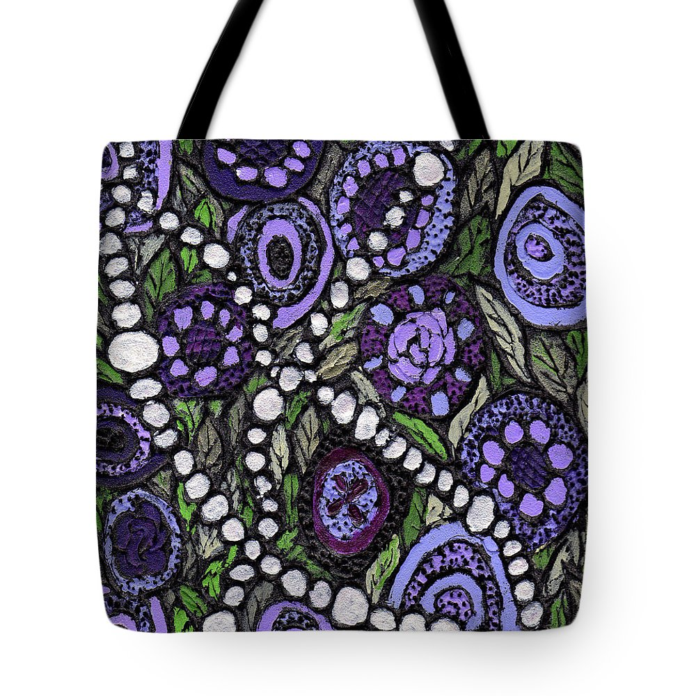 Abstract Tote Bag featuring the painting Pearls In The Garden by Wayne Potrafka