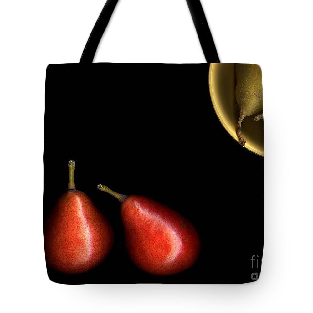 Pears Tote Bag featuring the photograph Pears And Bowl by Christian Slanec
