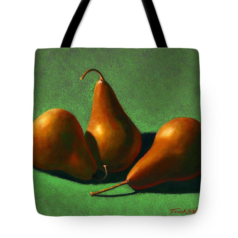 Still Life Tote Bag featuring the painting Pears by Frank Wilson