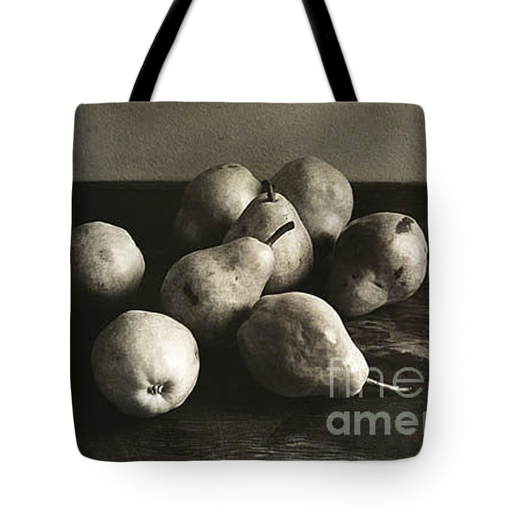 Pears Tote Bag featuring the photograph Pears by Michael Ziegler