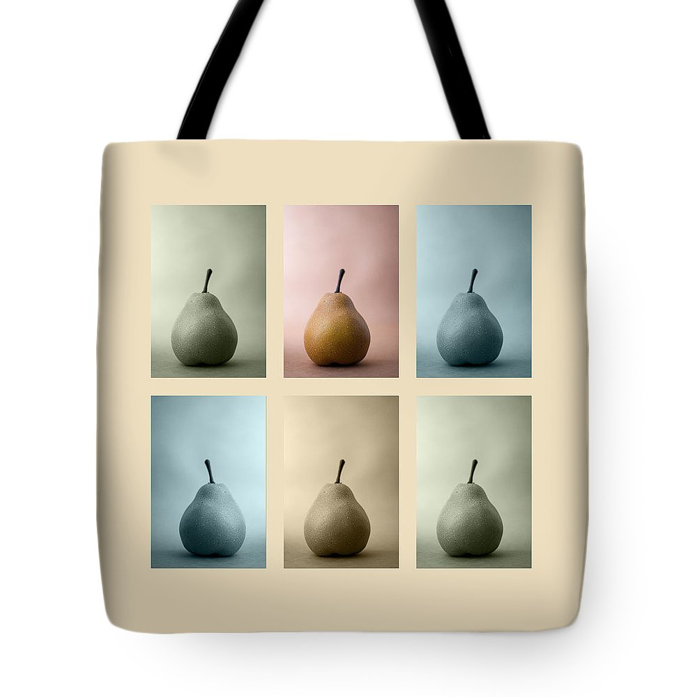 Pear Tote Bag featuring the photograph Pears Squared by Carol Leigh