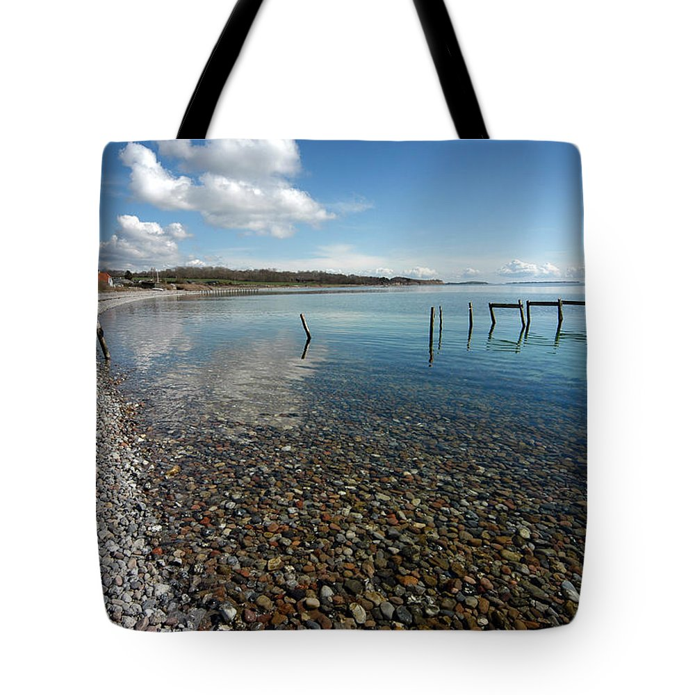 Beach Tote Bag featuring the photograph Pebbled Beach Denmark by Robert Lacy