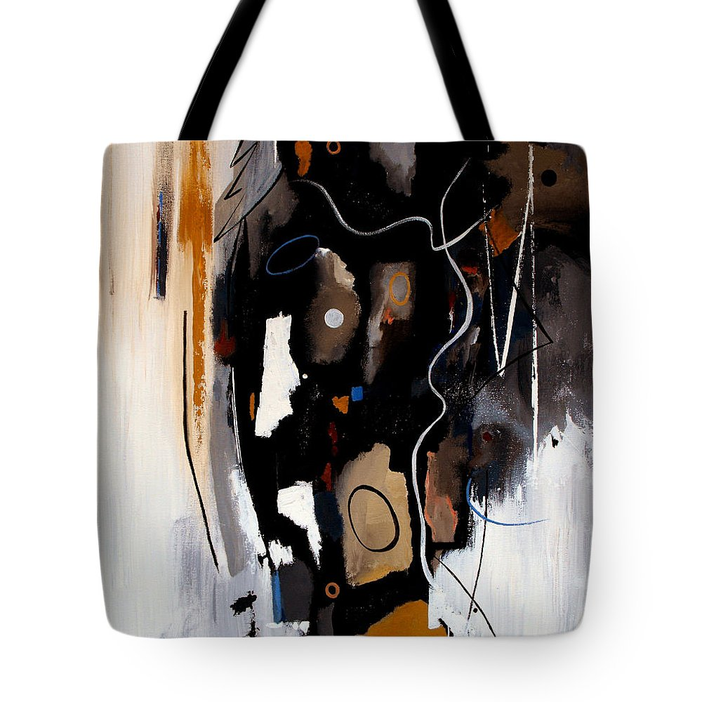 Abstract Tote Bag featuring the painting Pebbles In The Stream by Ruth Palmer