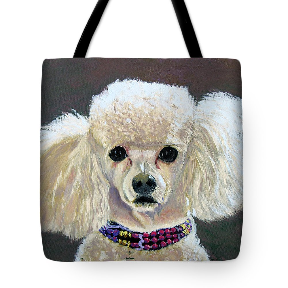 Dog Tote Bag featuring the painting Pebbles by Stan Hamilton