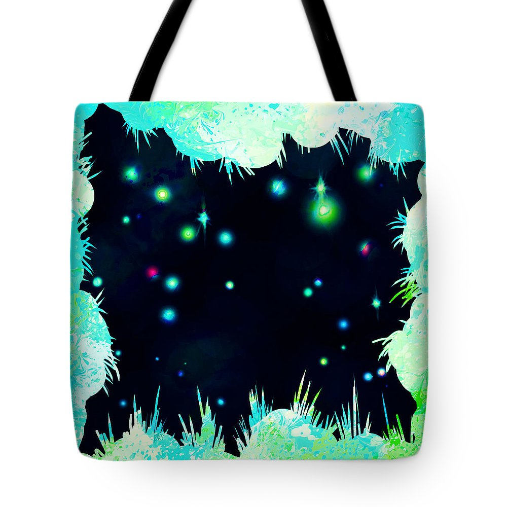 Abstract Tote Bag featuring the digital art Peeking In by William Russell Nowicki