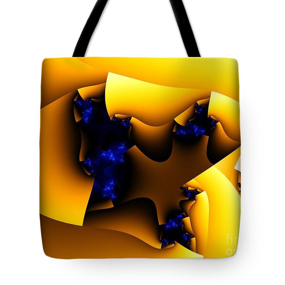 Fractal Art Tote Bag featuring the digital art Peeling Away by Ron Bissett
