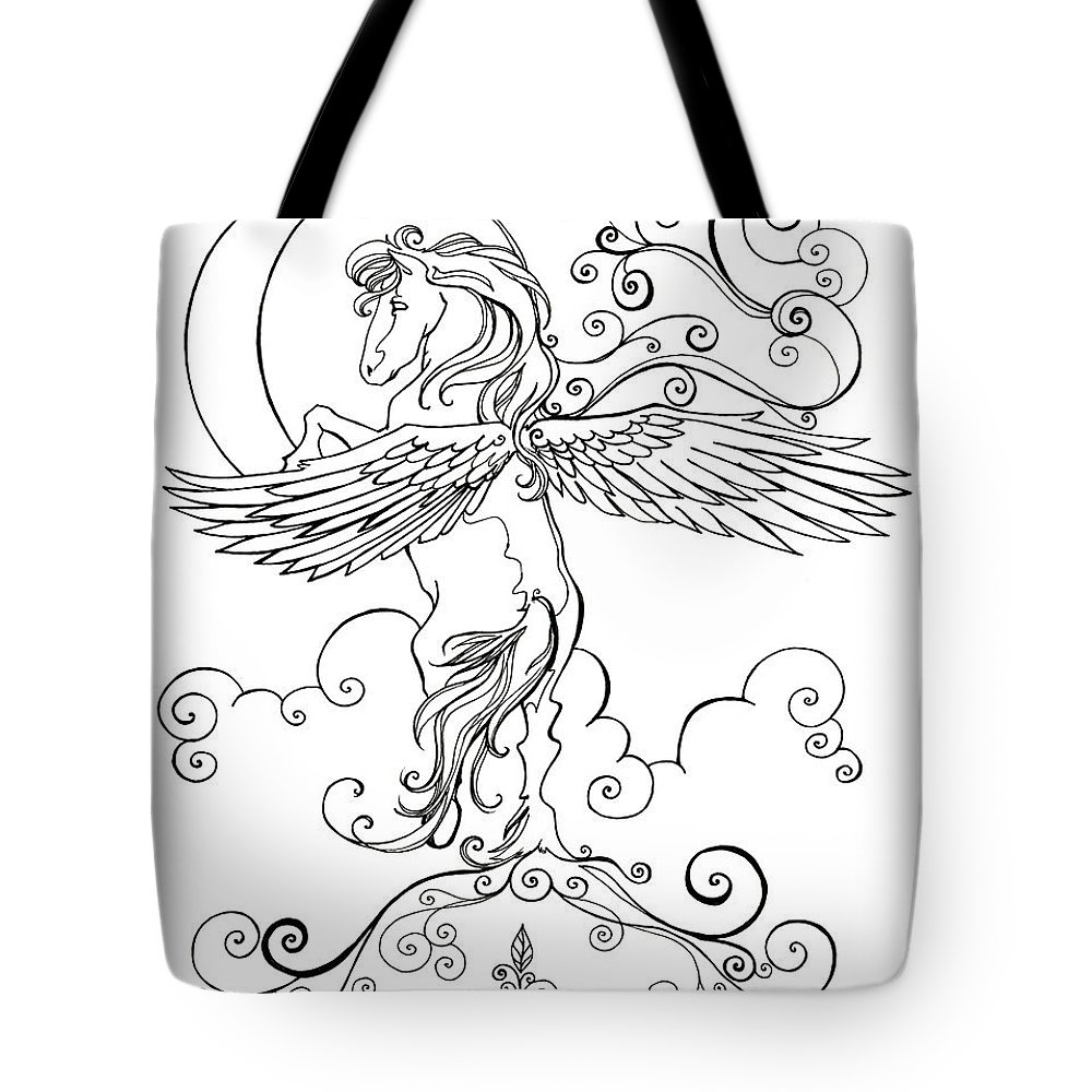 Pegasus And Crescent Moon Tote Bag For Sale By Katherine Nutt