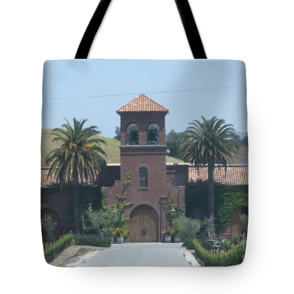Winery Tote Bag featuring the photograph Peitre Santa Winery by Jeanie Watson