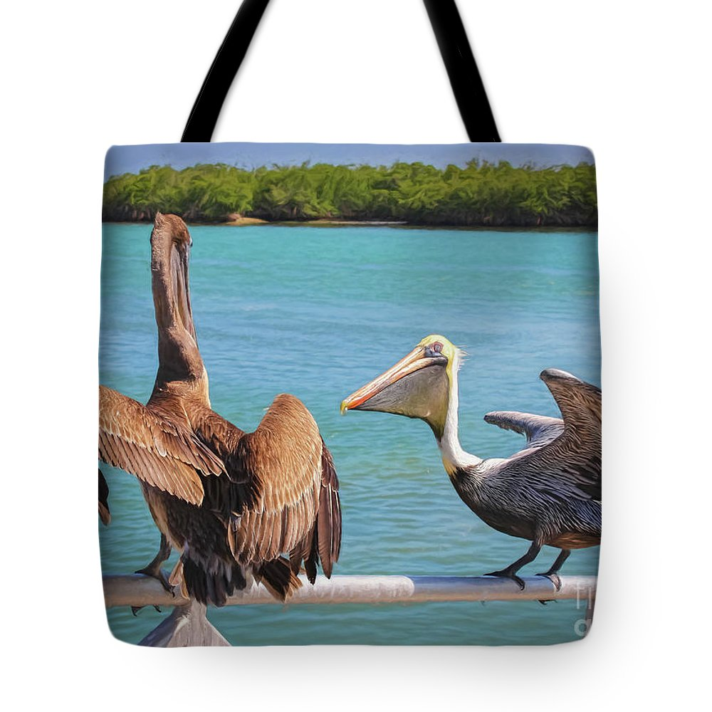 Zoo Tote Bag featuring the photograph Pelecanidae by Janice Pariza