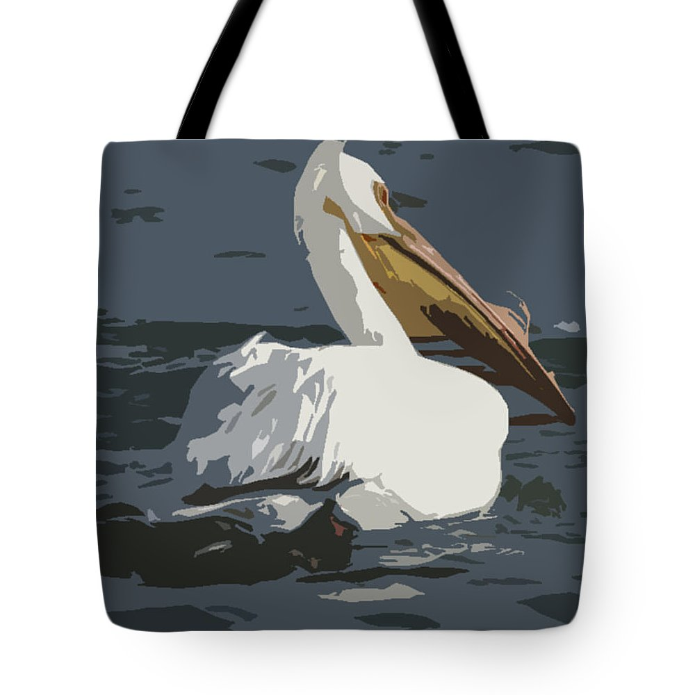 Pelican Tote Bag featuring the photograph Pelican Cut Out by Heather Coen