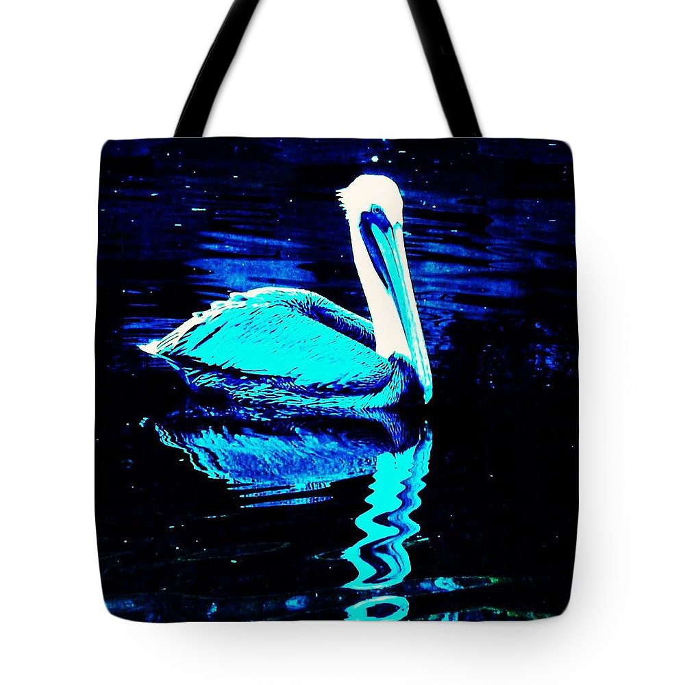 Pelican Tote Bag featuring the photograph Pelican by Daniele Smith