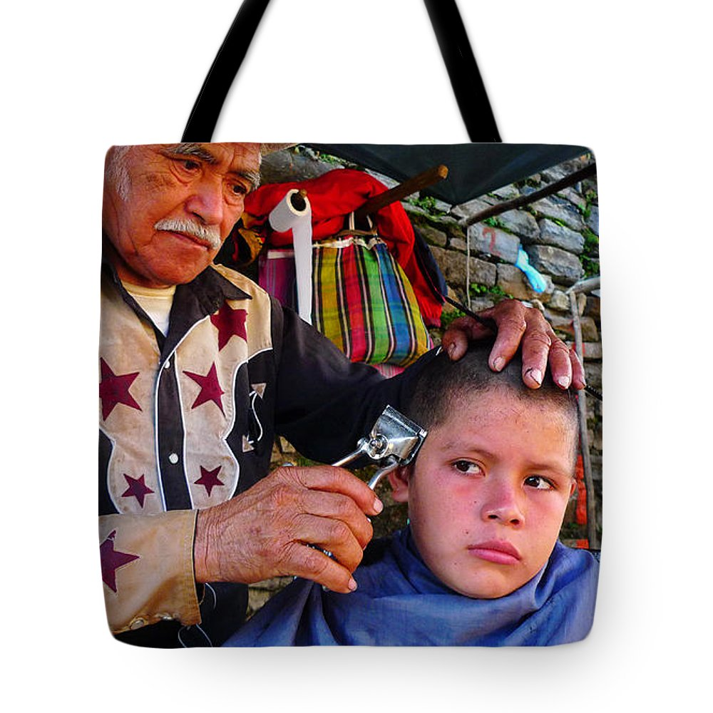 Skip Hunt Tote Bag featuring the photograph Peluquero Dos by Skip Hunt