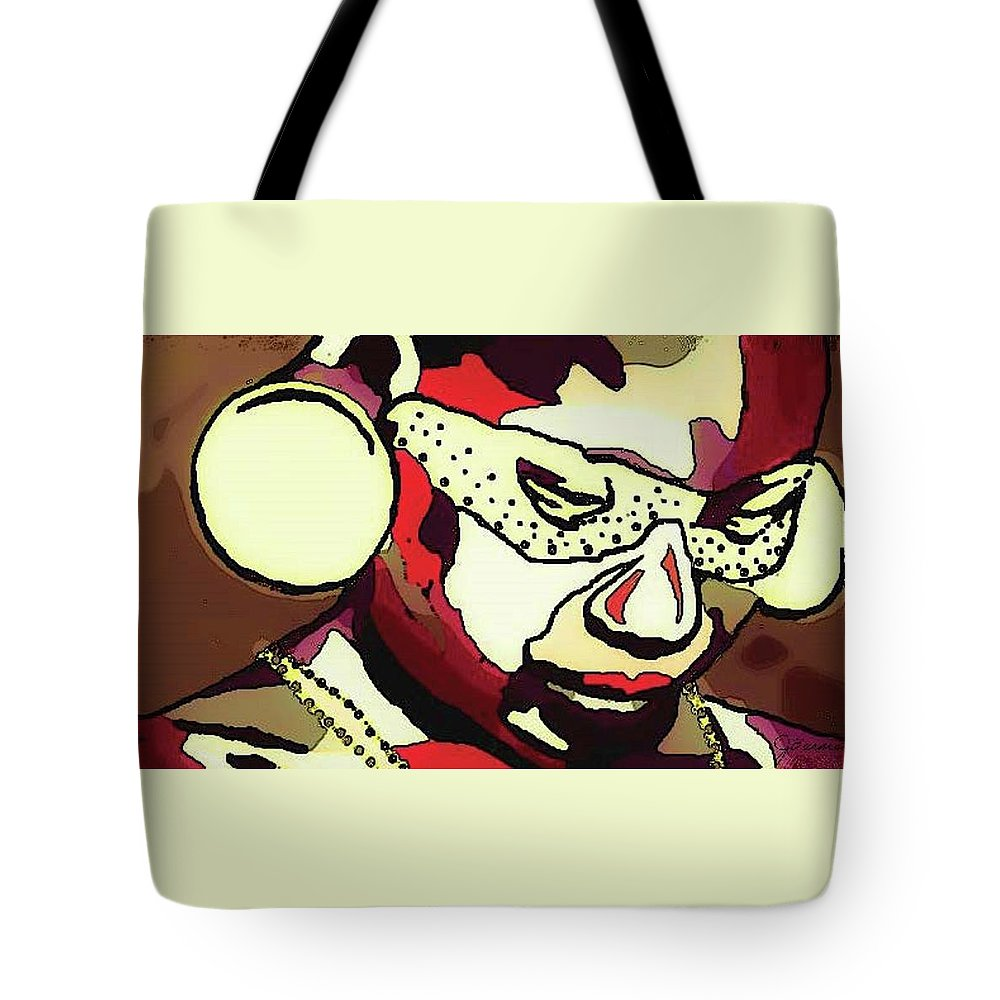African Tote Bag featuring the mixed media Pema by Josephine Barnes