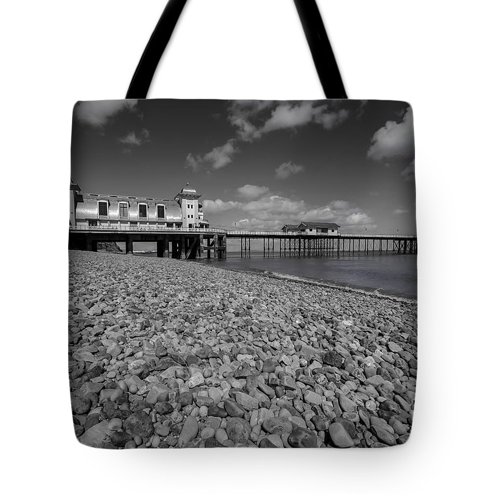Penarth Pier Tote Bag featuring the photograph Penarth Pier 1 by Steve Purnell