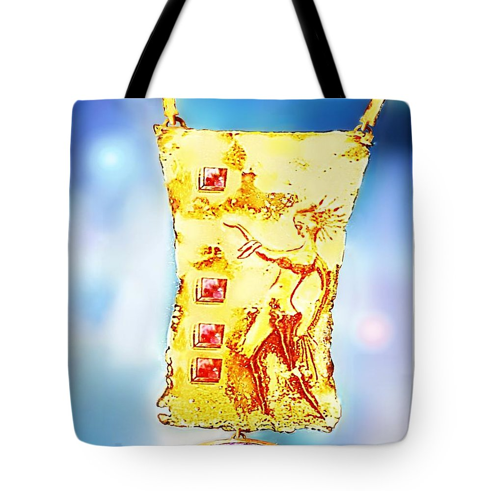 Pendant Tote Bag featuring the jewelry Pendant by Hartmut Jager