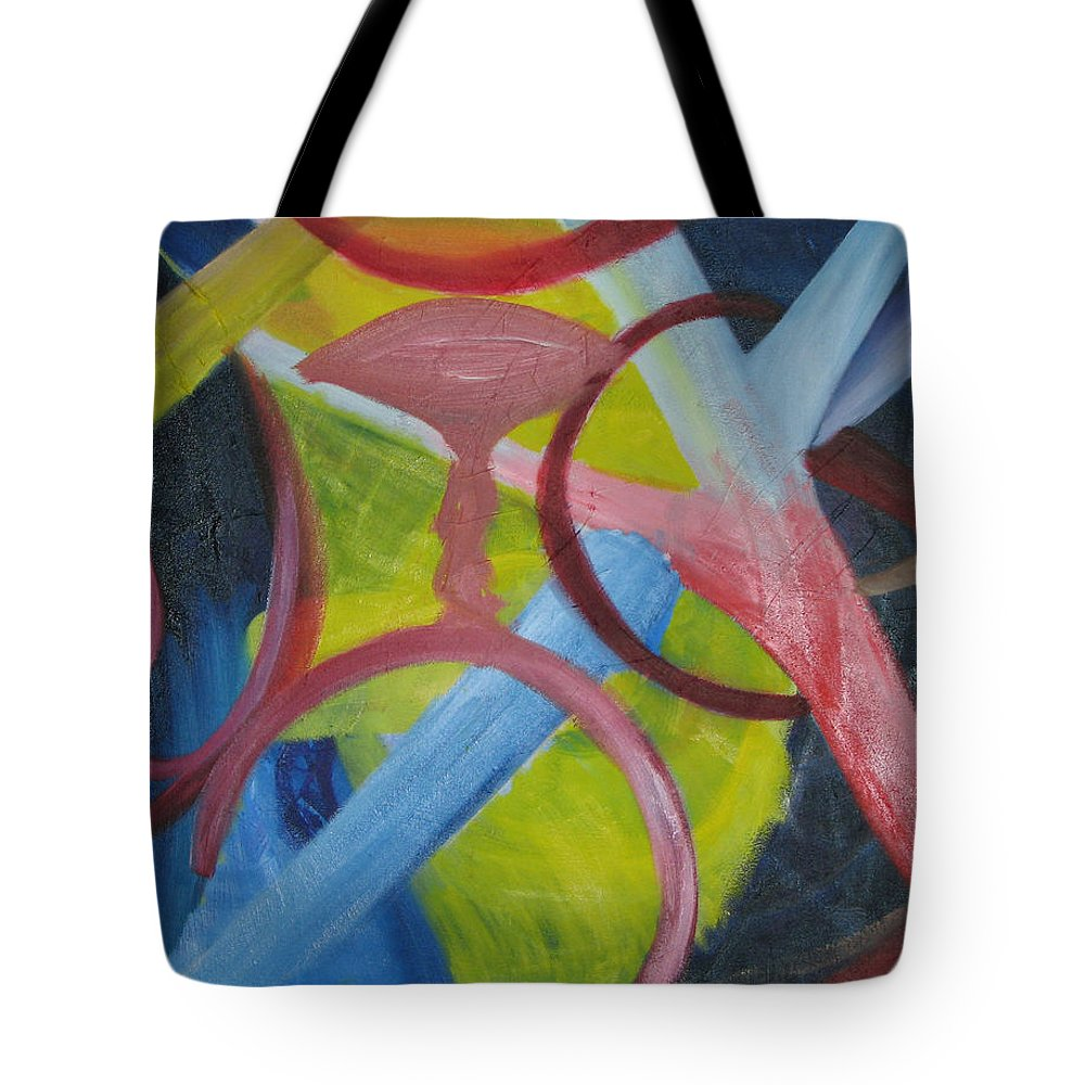 Oil Paint Tote Bag featuring the painting Penetration by Michael Mooney