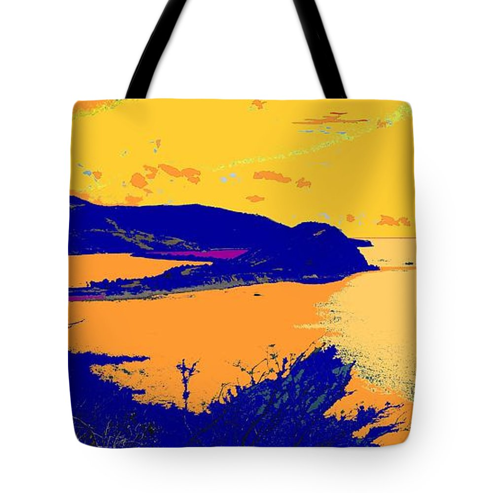 St Kitts Tote Bag featuring the photograph Peninsula Orange by Ian MacDonald