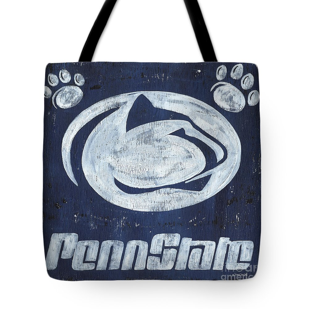 Penn State Tote Bag featuring the painting Penn State by Debbie DeWitt