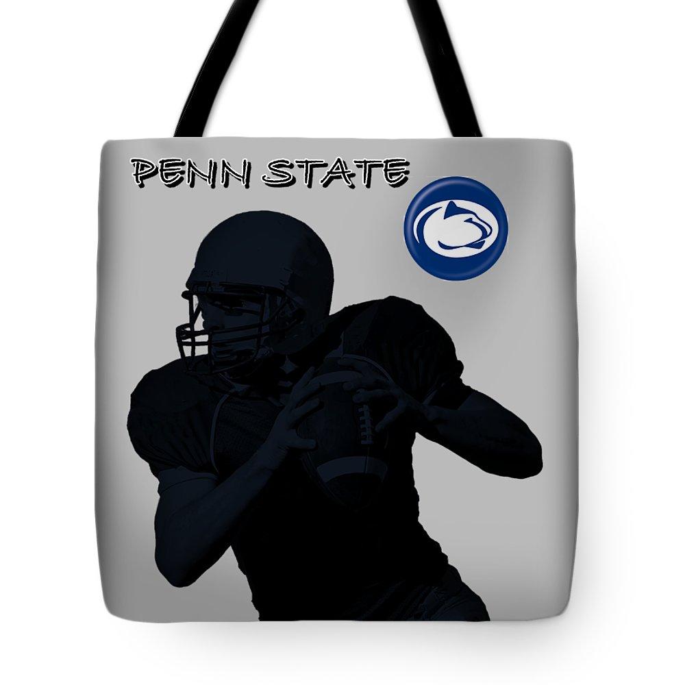 Football Tote Bag featuring the digital art Penn State Football by David Dehner