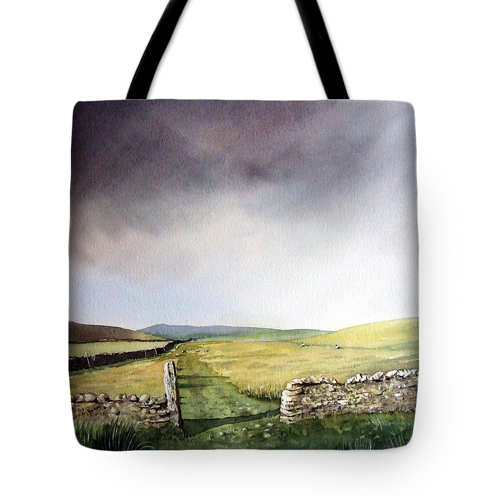 Landscape Tote Bag featuring the painting Pennine Way by Paul Dene Marlor