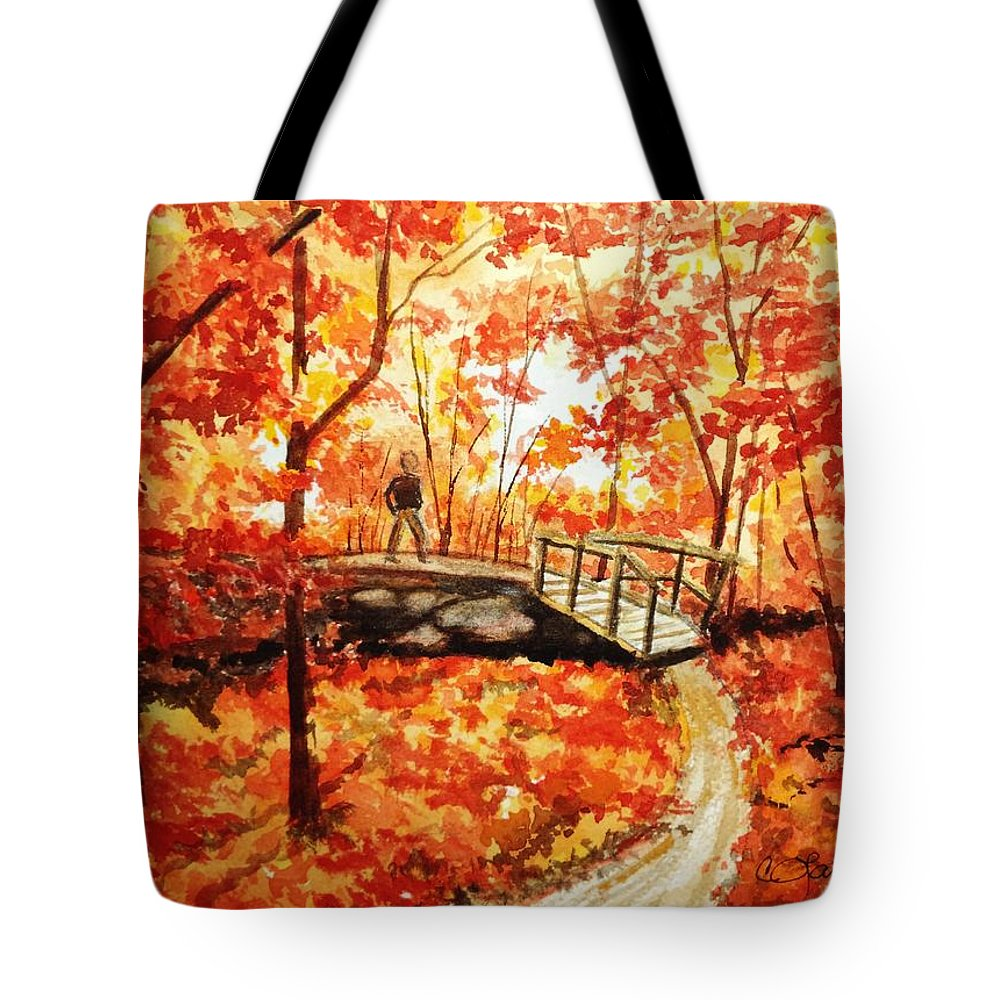 Fall Season Tote Bag featuring the painting Pennsylvania Autumn by Constance Larimer