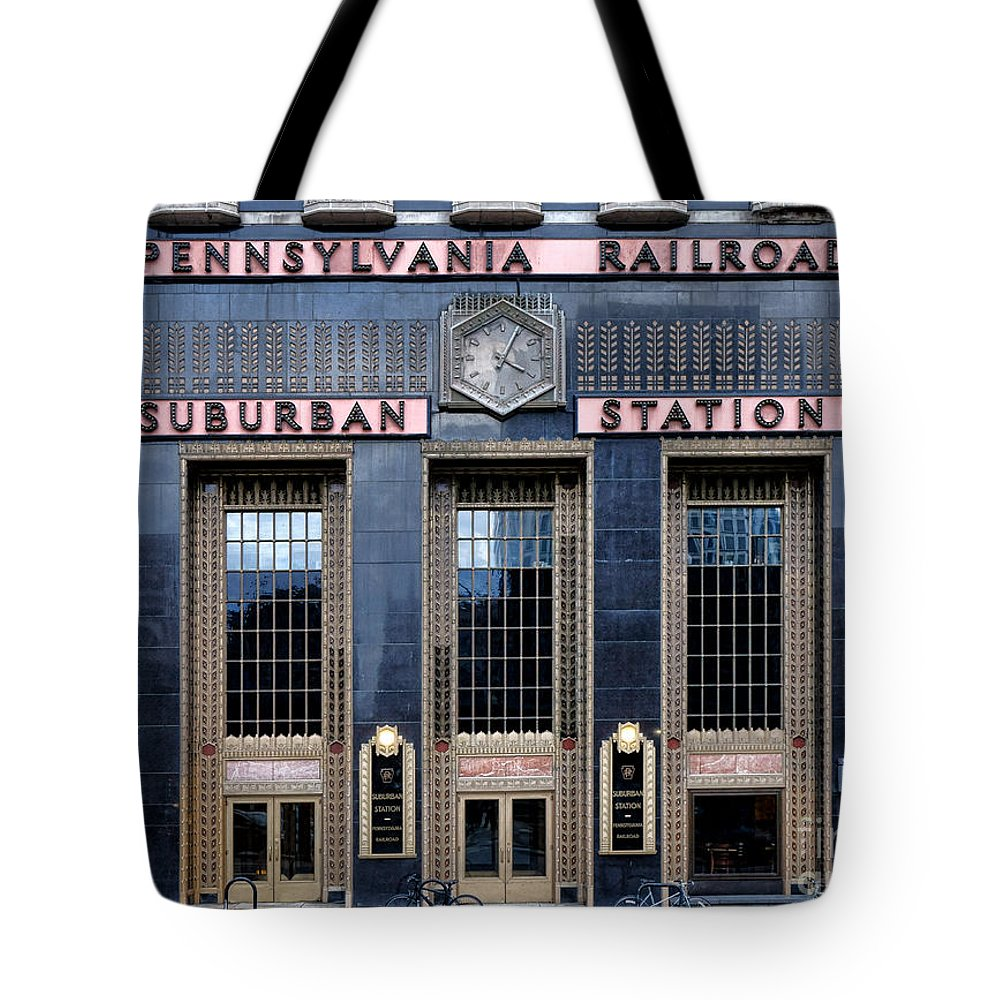 Pennsylvania Tote Bag featuring the photograph Pennsylvania Railroad Suburban Station by Olivier Le Queinec